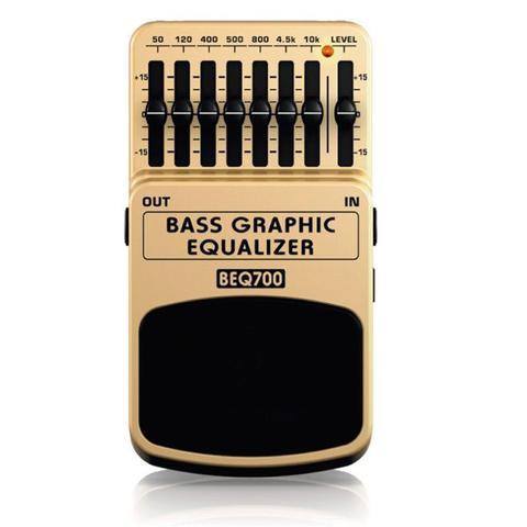 Imagem de Pedal Equalizador para Contrabaixo Behringer BEQ700 Bass Graphic Equalizer