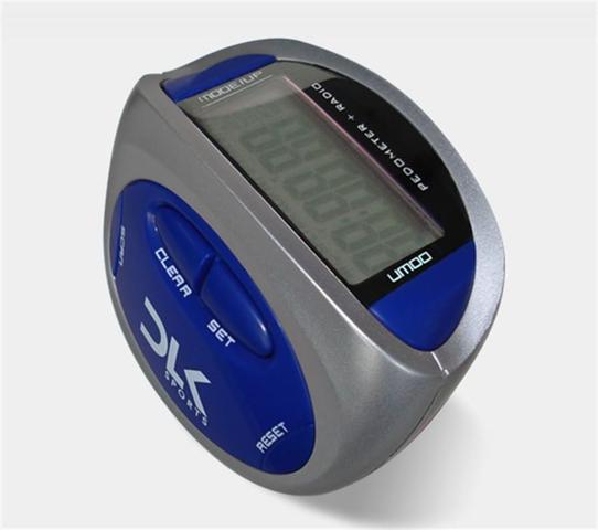 Imagem de Pedometro digital com radio wc066 azul - dlk sports
