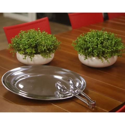 Imagem de Pegador Aço Inox Serve Salada Massas Churrascos Petisco Luxo