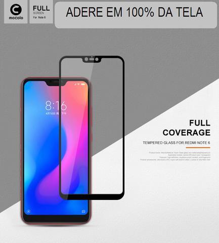 Imagem de PelÃcula De Vidro Xiaomi Redmi Note 6 Full Cover 9h 2.5d - Preto