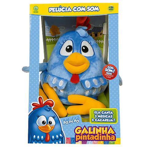 Imagem de Pelcia Com Som Galinha Pintadinha 4994 Dtc