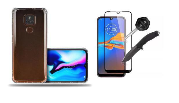 Imagem de Película 3D Vidro + Capa Case Anti Impacto para Motorola Moto E7 Plus