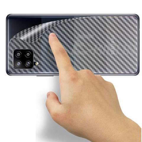Imagem de Película 3D Vidro + Película Traseira Galaxy A12 Fibra de Carbono Anti-Riscos