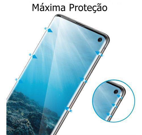Imagem de Película De Gel Samsung Galaxy S10 Tela 6.1 Curvada - Proteção Que Adere E Cobre Toda A Tela