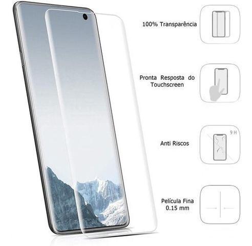 Imagem de Película De Gel Samsung Galaxy S10e Tela 5.8 Curvada - Proteção Que Adere E Cobre Toda A Tela