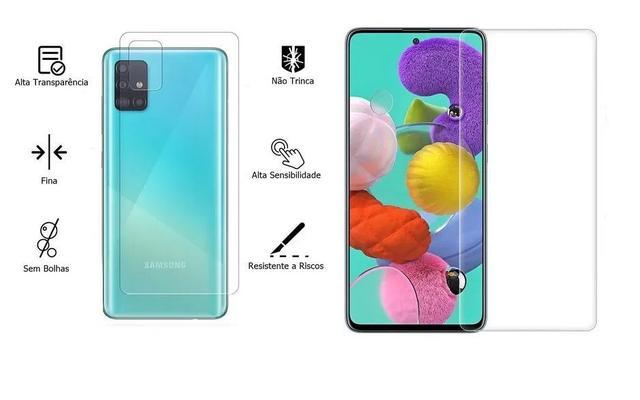 Imagem de Película De Nano Gel Flexivel Frente e Verso Anti Risco Samsung Galaxy A71