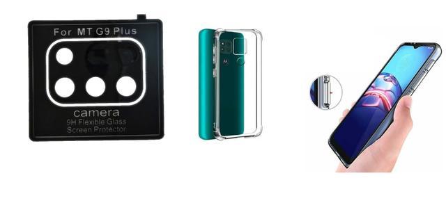 Imagem de Película De Nano Gel Motorola Moto G9 Plus + Película Da Lente + Capa Reforçada