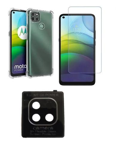 Imagem de Película De Nano Gel Motorola Moto G9 Power + Película Da Lente Câmera + Capa Reforçada
