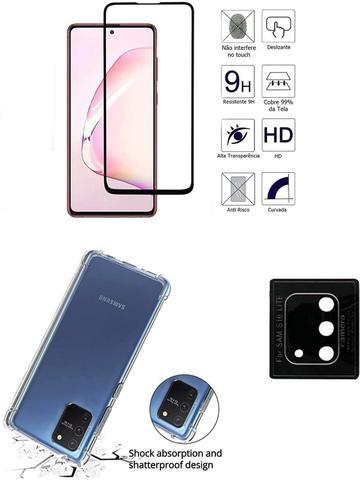 Imagem de Película De Vidro 3D 5D Samsung Galaxy S10 LITE (6.7) + Película Da Lente + Capa Reforçada