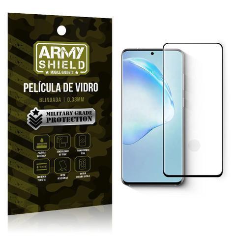 Imagem de Película de Vidro Blindada Curvada cola em toda tela Galaxy S20 Plus - Armyshield