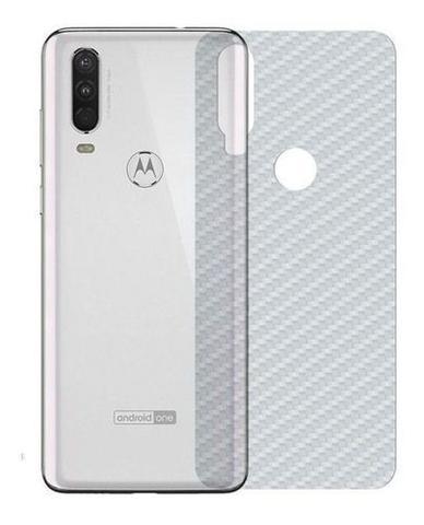 Imagem de Película Fibra De Carbono Gel Flexível Traseira Verso Motorola Moto One Action