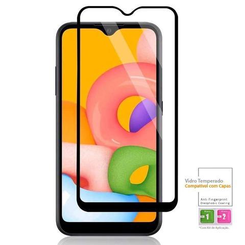 Imagem de Película Vidro 3D Blinada Cobre 100% Samsung Galaxy A01 + Kit Aplicação