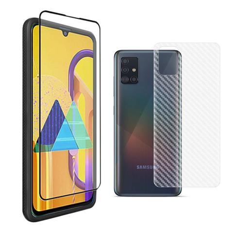 Imagem de Película Vidro 3D Galaxy A71 + Película Traseira Fibra Carbono Slim