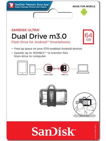 Pen Drive Sandisk Dual Drive 64gb - Sddd3064gg46
