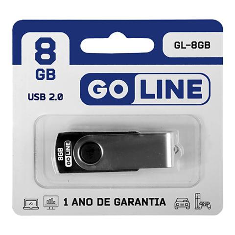 Pen Drive Go Line Preto 8gb