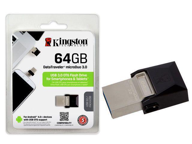 Pen Drive Kingston Datatraveler Otg 2.0 64gb - Dtduo