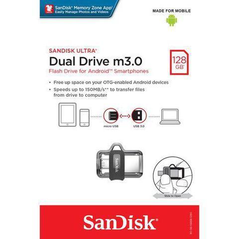 Pen Drive Sandisk Ultra Dual Drive 128gb - Sddd3-128g-g46