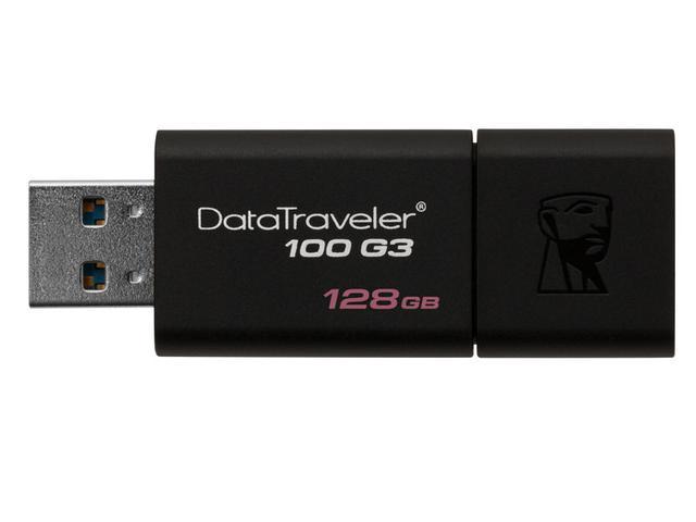 Imagem de Pen Drive Usb 3.0 Kingston Dt100g3/128gb Datatraveler 100 128gb Generation 3