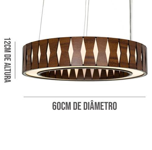 Imagem de Pendente Anel de Madeira Imbuia 60cm
