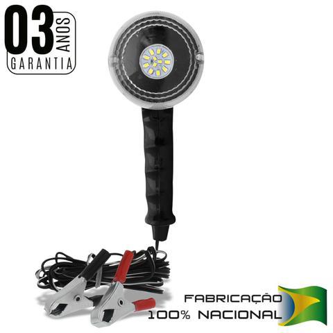Imagem de Pendente de Luz Autopoli 12 LEDs 12V 21W Lanterna de Apoio Emergência Bateria Garras Jacaré