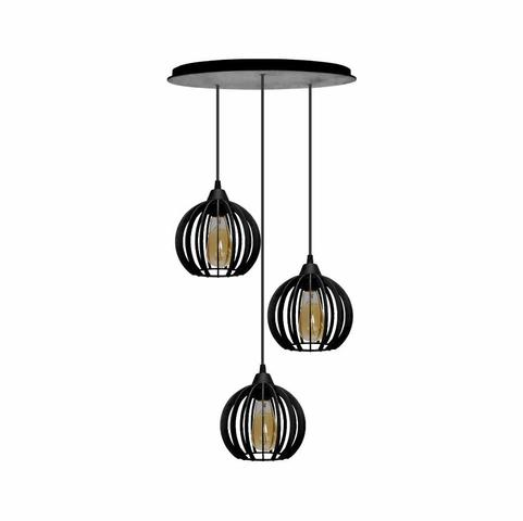 Imagem de Pendente Trio - Micro Ball Light- Preto
