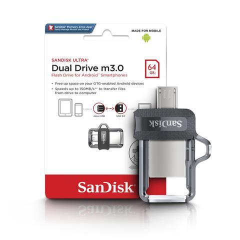 Imagem de Pendrive 64gb Sandisk Celular E Pc Ultra Dual Drive Lacrado