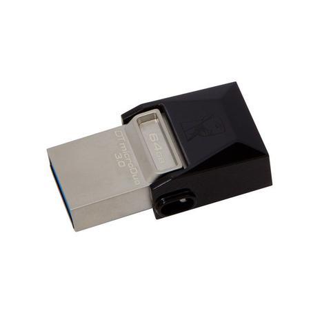 Imagem de Pendrive 64GB Smartphone Kingston DTDUO3/64GB DT Micro Duo USB e Micro USB 3.0 OTG