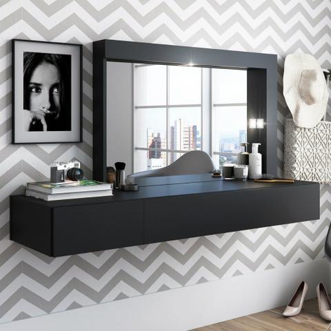 Imagem de Penteadeira 2 Gavetas com Espelhos e LED Inspiração Albatroz