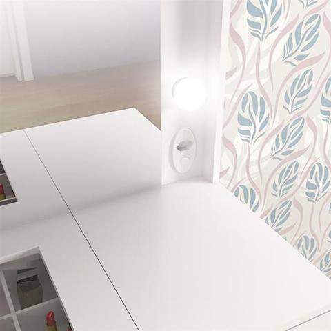 Imagem de Penteadeira Camarim Bianca Com Espelho 5 Gavetas Branca Fellicci Móveis