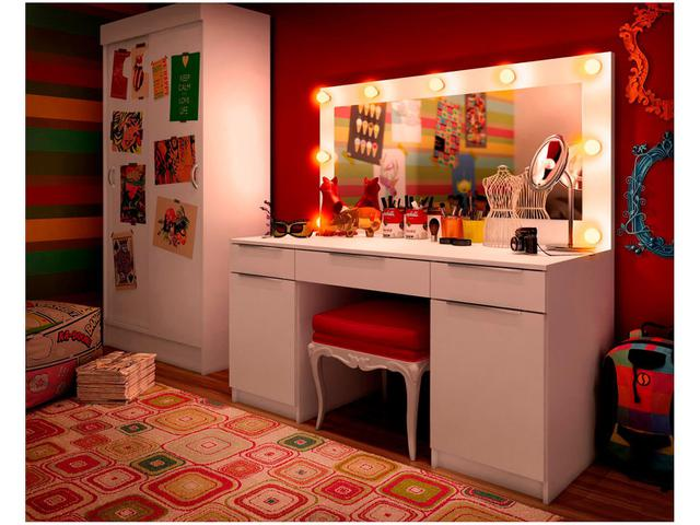 Imagem de Penteadeira Camarim com Espelho 3 Gavetas