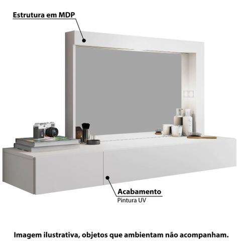 Imagem de Penteadeira Camarim Inspiração com Led e 2 Gavetas - Branco