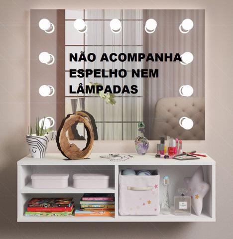 Imagem de Penteadeira Camarim Suspensa Nichos p/ Quarto Branco