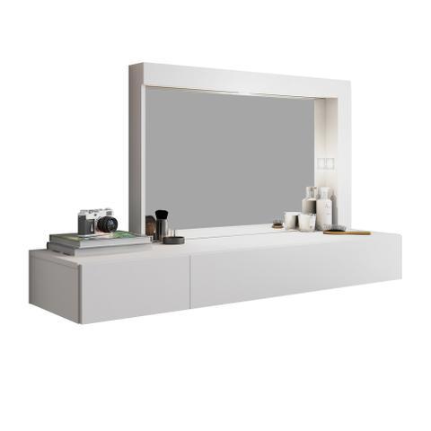 Imagem de Penteadeira com Espelho Camarim Inspiração Branca