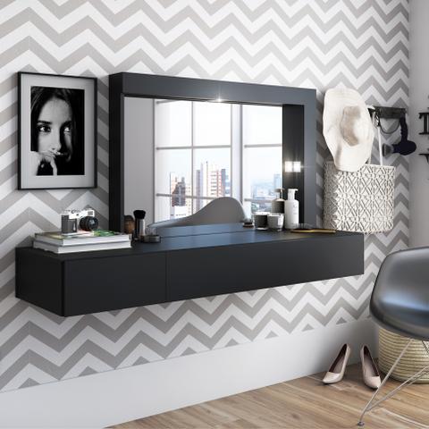 Imagem de Penteadeira com Espelho Camarim Inspiração Preta