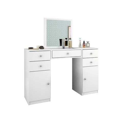 Imagem de Penteadeira Com Espelho Demóbile Lorena 2 Portas 5 Gavetas Branco