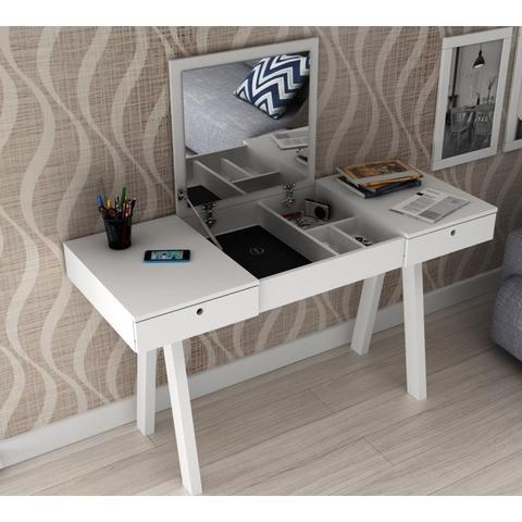 Imagem de Penteadeira Escrivaninha PE-2002 Branco Tecno Mobili