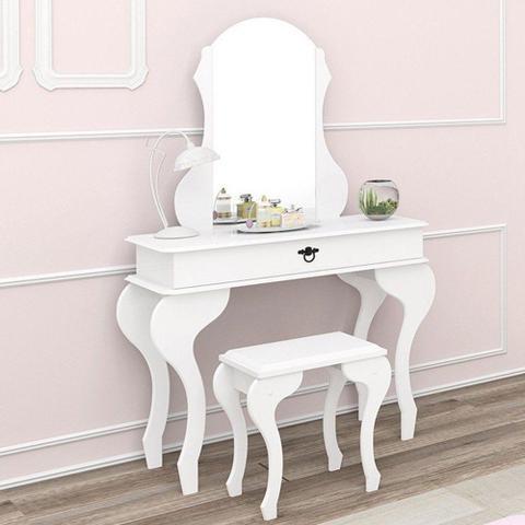 Imagem de Penteadeira Lilly com Banqueta Branco Acetinado - Imcal