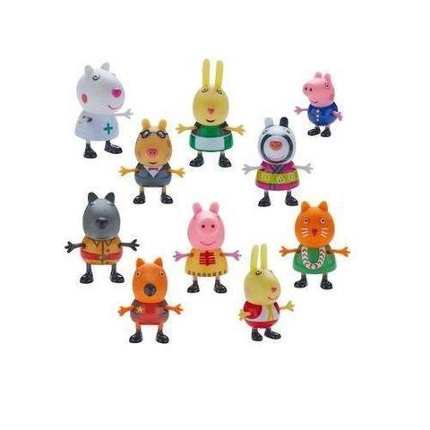 Imagem de Peppa Pig Fantasias Conjunto Com 10 Figuras Articuladas Serie 1 Dtc