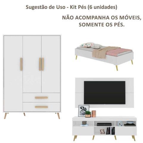 Imagem de Pés Palito Retrô - Kit com 6 unidades Multimóveis Natural
