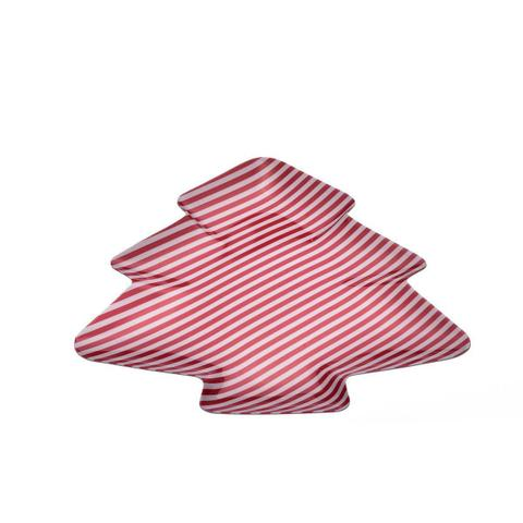 Imagem de Petisqueira Árvore de Natal Striped Xmas Melamina 39cm