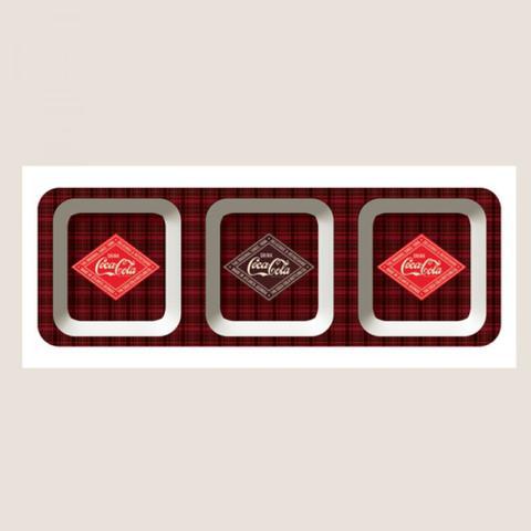 Imagem de Petisqueira Coca Cola Del Refresh Xadrez com 3 divisões