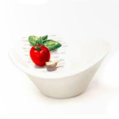 Imagem de Petisqueira Em Cerâmica Oval Média Estampa Tomate D156788