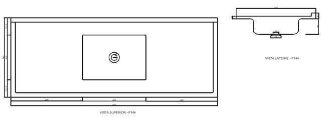 Imagem de Pia de Cozinha Decoralita Granito Sintético com Bojo em Inox 139 5cm X 54cm Marrom Imperial
