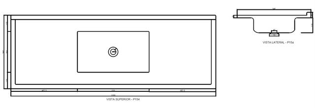 Imagem de Pia de Cozinha Decoralita Premium Granito 150cm X 54cm Cinza Real