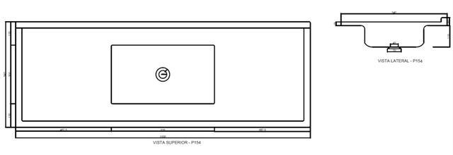 Imagem de Pia de Cozinha Decoralita Premium Marmore 150cm X 54cm Cinza Griss