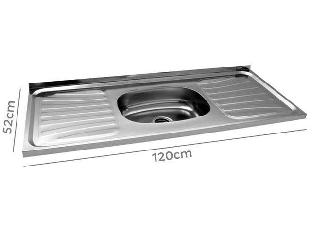 Imagem de Pia de Cozinha Inox 120x52cm Ghel Plus