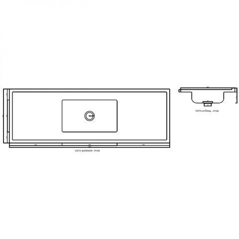 Imagem de Pia para Cozinha Bojo Inox e Ecogranito 160cmx54cm Decoralita Branco