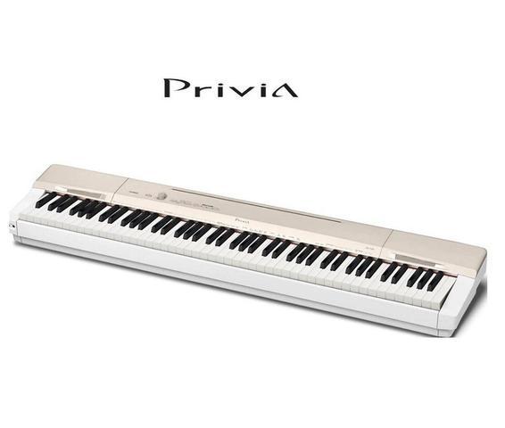 Imagem de Piano Digital CASIO Privia PX-160GD Champagne Gold - 88 Teclas - Piano para Estudo - Pedal - Fonte - Suporte Partitura