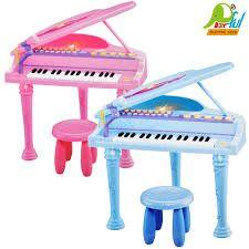 Imagem de Piano sinfonia infantil 32 teclas instrumento musical brinquedo com gravador banquinho e microfone r