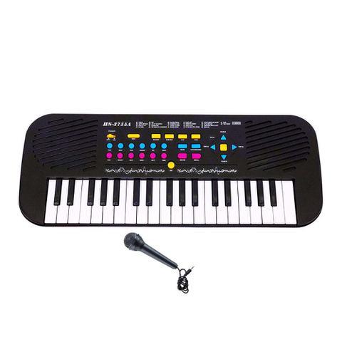 Imagem de Piano Teclado Infantil Microfone Cantar Brinquedo Musical
